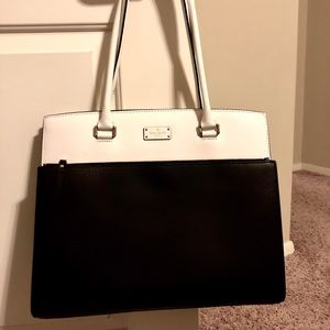Authentic Kate Spade Large Leather B/W Bag